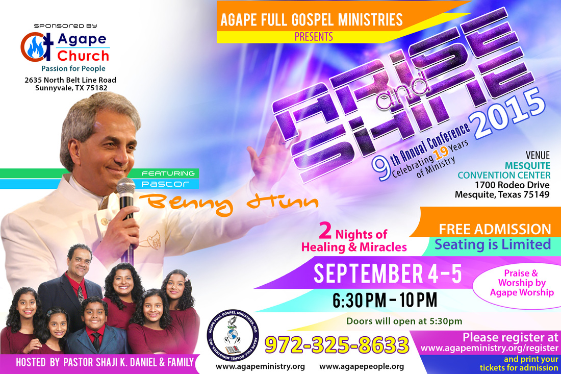 Arise and Shine Conference 2015 with Pastor Benny Hinn